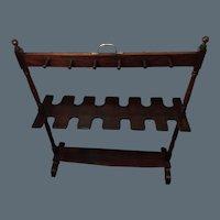 Georgian Mahogany Boot / Whip Rack