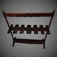 Georgian Mahogany Boot / Whip Rack