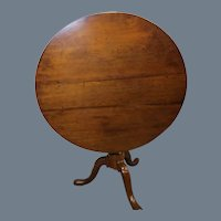 Queen Anne Cherry Tilt Top Tea Table