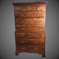 18th Century Tallboy Mahogany Chest on Chest