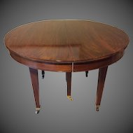 Cuban Mahogany Edwardian Dining Table