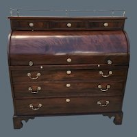 Federal Mahogany Cylinder Desk