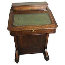 Victorian Burl Walnut Davenport Desk