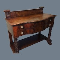 Federal Style Carved Mahogany Server