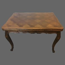 French Draw Leaf Parquetry Table