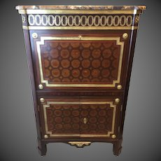 French Parquetry Drop Front Secretary