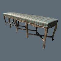 French Louis XV Style 10 legged Bench