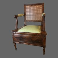 Louis XVI Chaise Percee or Commode Chair