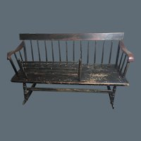 New England painted Nanny Bench