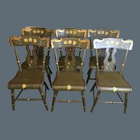 George Nees Paint Decorated Chairs