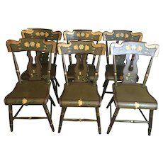Signed George Nees Painted Chairs