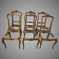 French Louis XV Style Dining Chairs