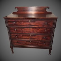 Mahogany Sheraton Chest