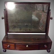 Early 19thc Mahogany Sheraton Shaving Mirror