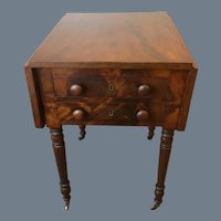Mid 19th Century Sheraton Two Drawer Stand