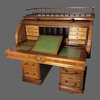 Victorian English Cylinder Bureau