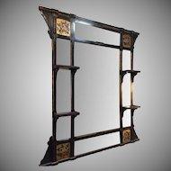 Ebonized and Gilt Victorian wall Mirror