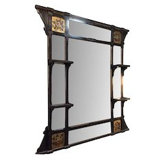 Ebonized and Gilt Victorian wall Mirror