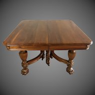 Victorian Era Walnut Dining Table