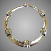 Antonio Pineda 970 Silver Choker Necklace Mexico Taxco YY450