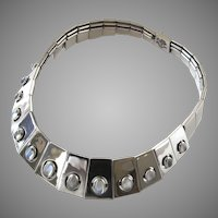 Antonio Pineda 970 Silver Moonstone Necklace