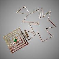 Guayasamin 900 Silver Necklace Pendant Modernist Kinetic