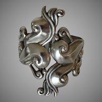 Gerardo Lopez Mexican Sterling Silver Clamper Bracelet