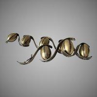 Early Elizabeth Garvin Sterling Silver and Vermeil Modernist Bracelet