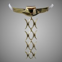 N E From Vermeil Sterling Silver Necklace Neck Tie Denmark Niels Erik From