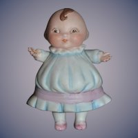 Old Happifats Bisque Doll Copyright Mark Jointed Arms Adorable