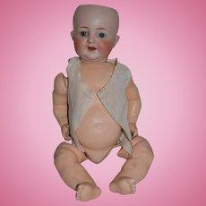 "Antique Doll Baby Bisque Head Kammer Reinhardt Simon & Halbig 126 19"" Tall Sweet!"