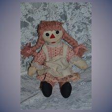 Vintage Doll Cloth Doll Raggedy Ann