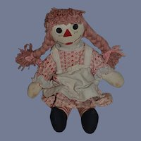 Vintage Doll Cloth Doll Raggedy Ann