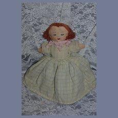 Old Doll Cloth Doll Topsy Turvy Unsual Rag Doll Two Dolls in One