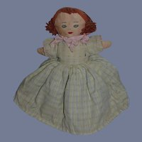 Old Doll Cloth Doll Topsy Turvy Unsual Rag Doll Two Dolls in One