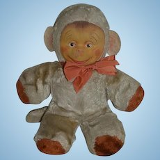 Old Doll Gund Monkey Stuffed Animal Mask Face W/ Tag Adorable