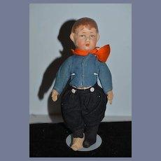Old Doll Oil Cloth Rag Doll Sweet Boy Character Doll