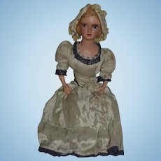 Antique Doll Boudoir Bed Doll Fancy Large Lady Doll Original Clothing