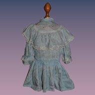 Old Doll Dress Drop Waist Sweet w/ Lace Detail