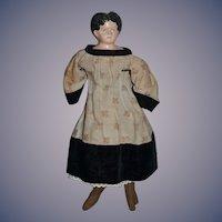 Antique Doll Papier Mache Old Cloth Body