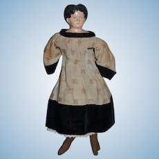 Antique Doll Papier Mache Old Cloth Body