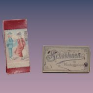 Antique Schablonen Fur Waschestickerei Template Copper For Embroidery W/ Directions Old Box and Victorian Box