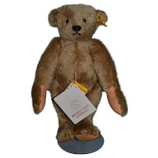 Vintage Teddy Bear Jointed Mohair Steiff Margaret Woodbury Strong Museum W/ Tags and Button