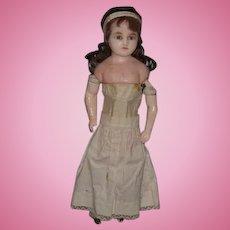 Antique Doll Wax Gorgeous Glass Eyes English