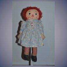 Raggedy Ann Doll Cloth Doll Rag Doll Button Eyes Sweet