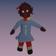Old Black Doll Hand Made Button Eyes Sweet Cloth Doll Rag Doll