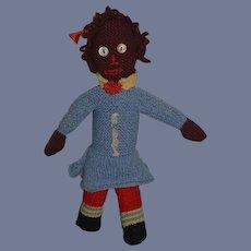 Old Black Doll Hand Made Button Eyes Sweet Cloth Doll Rag Doll