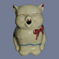 Old Miniature Pitcher Puss N Boots Shawnee Cat Pottery