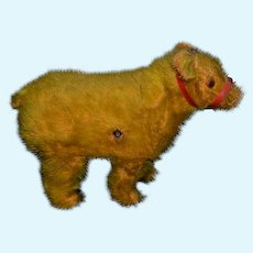 Antique Doll Mohair Teddy Bear Key Wind Up Walking Miniature For Doll