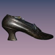 Antique Sterling Shoe Pincushion Pin Cushion Gorham Sterling Silver 1900's Sewing